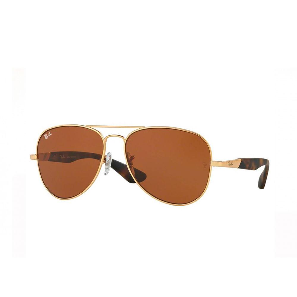 Oculos-de-Sol-Ray-Ban-Aviador-RB3554--Marrom-