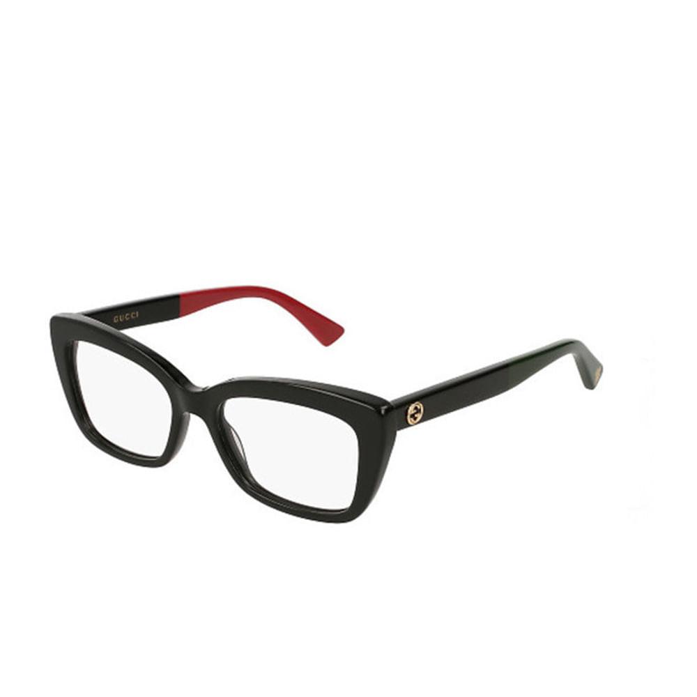 Oculos-de-Grau-Gucci-GG165-O-Preto-e-Vermelho