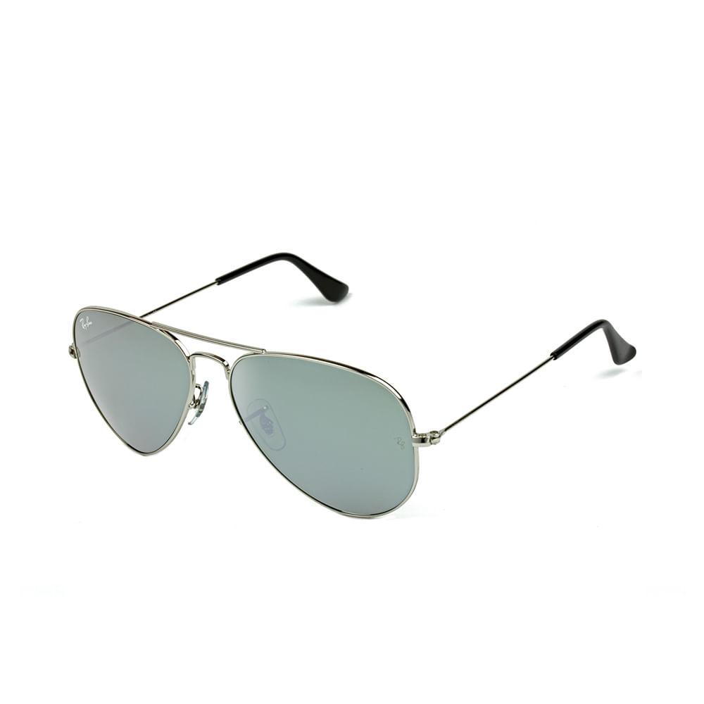 Oculos-de-Sol-Ray-Ban-Aviador-RB3025--Prata-Espelhado