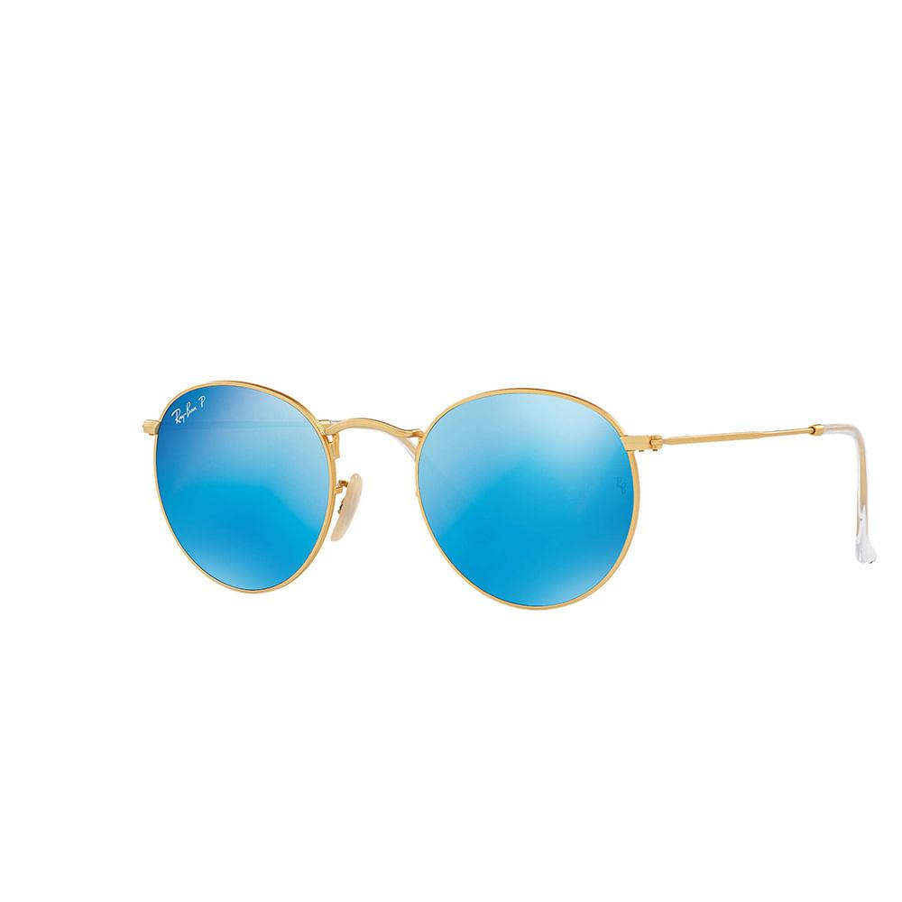 Oculos-de-Sol-Ray-Ban-Round-RB-3447---Azul-