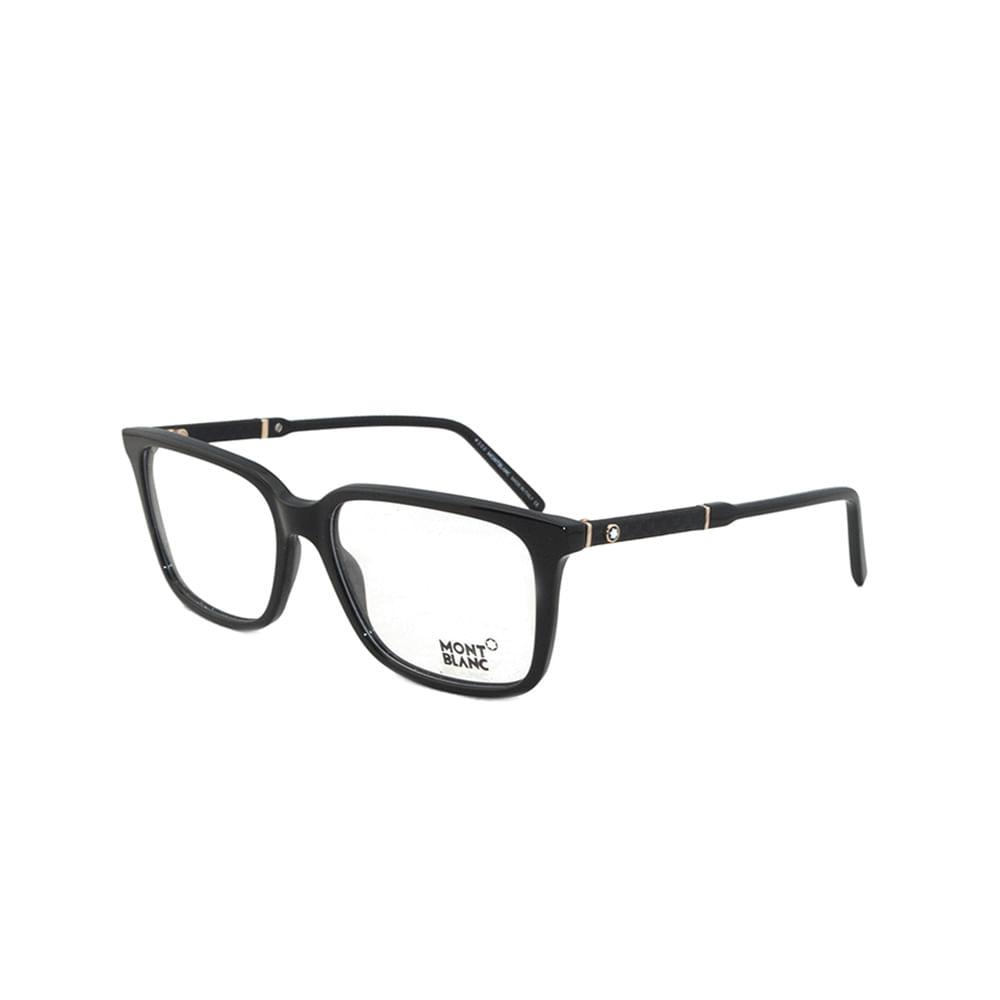 f095ff2fa68bc Óculos de Grau Mont Blanc 675 001 - Tamanho 55 · Feminino