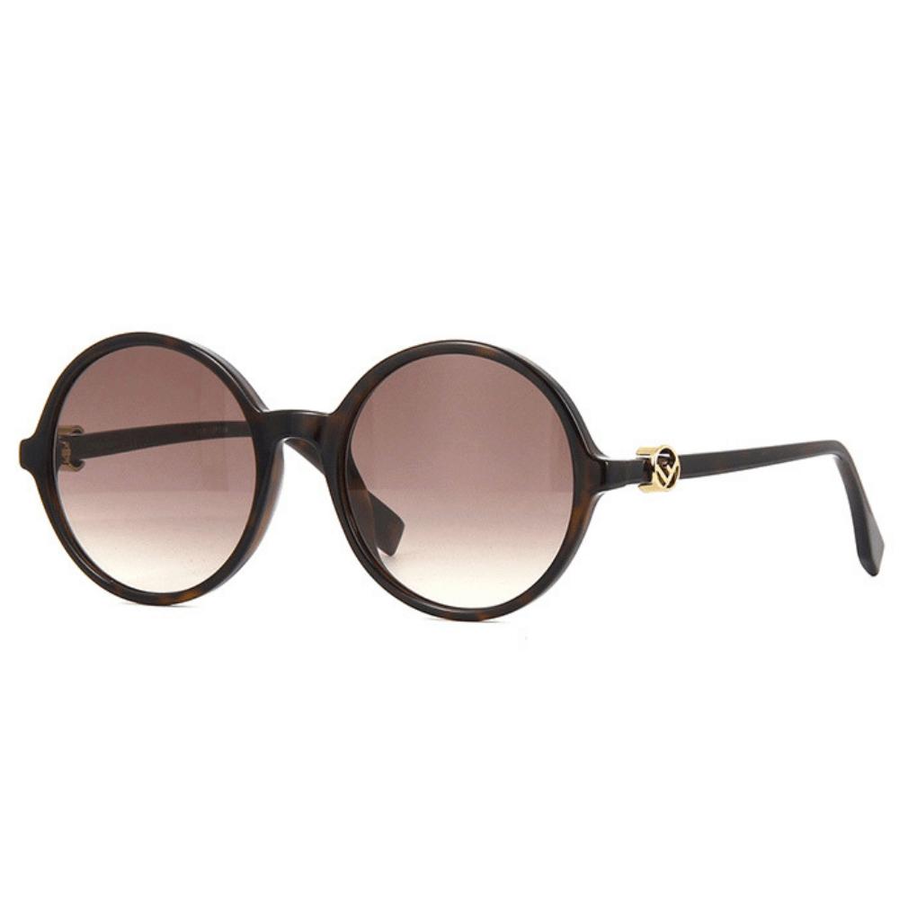oculos-de-sol-fendi-redondos-marrom