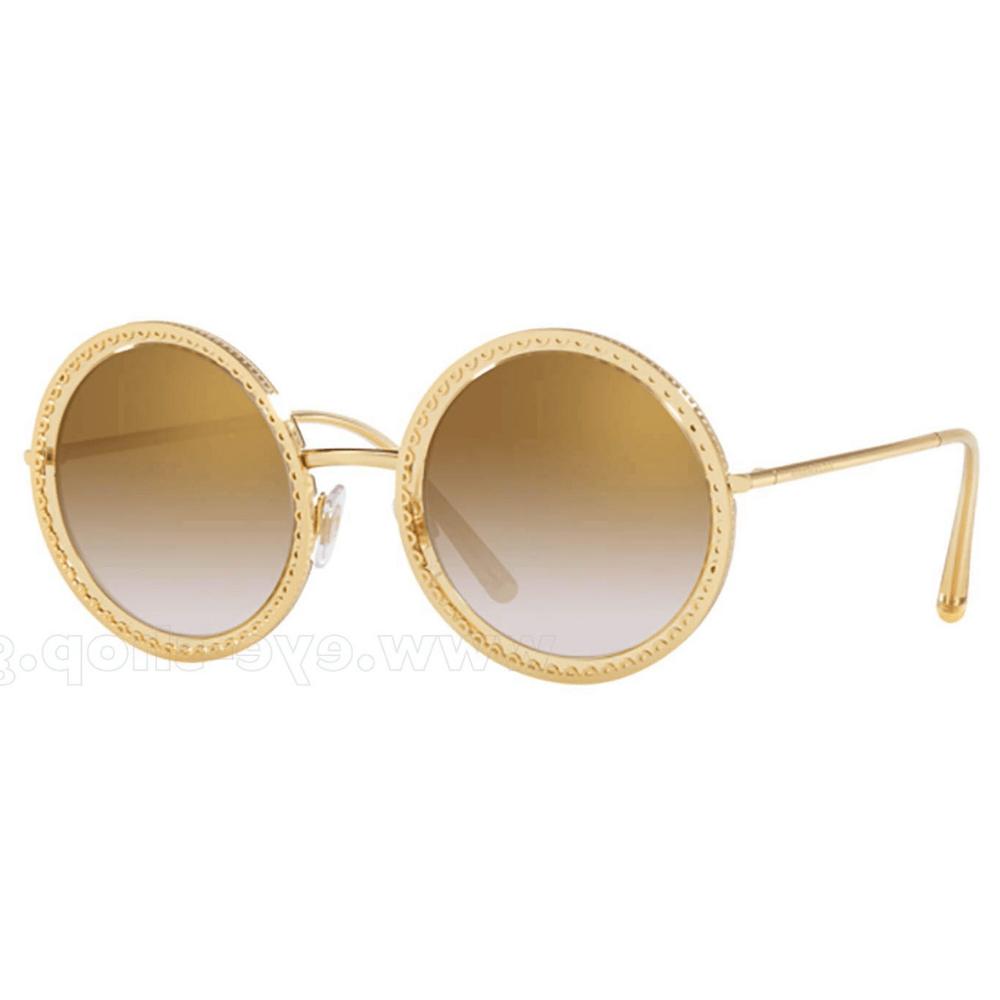 695ef6e0e Óculos de Sol Dolce & Gabbana 2211 Dourado 02/6E - Cristalli Otica
