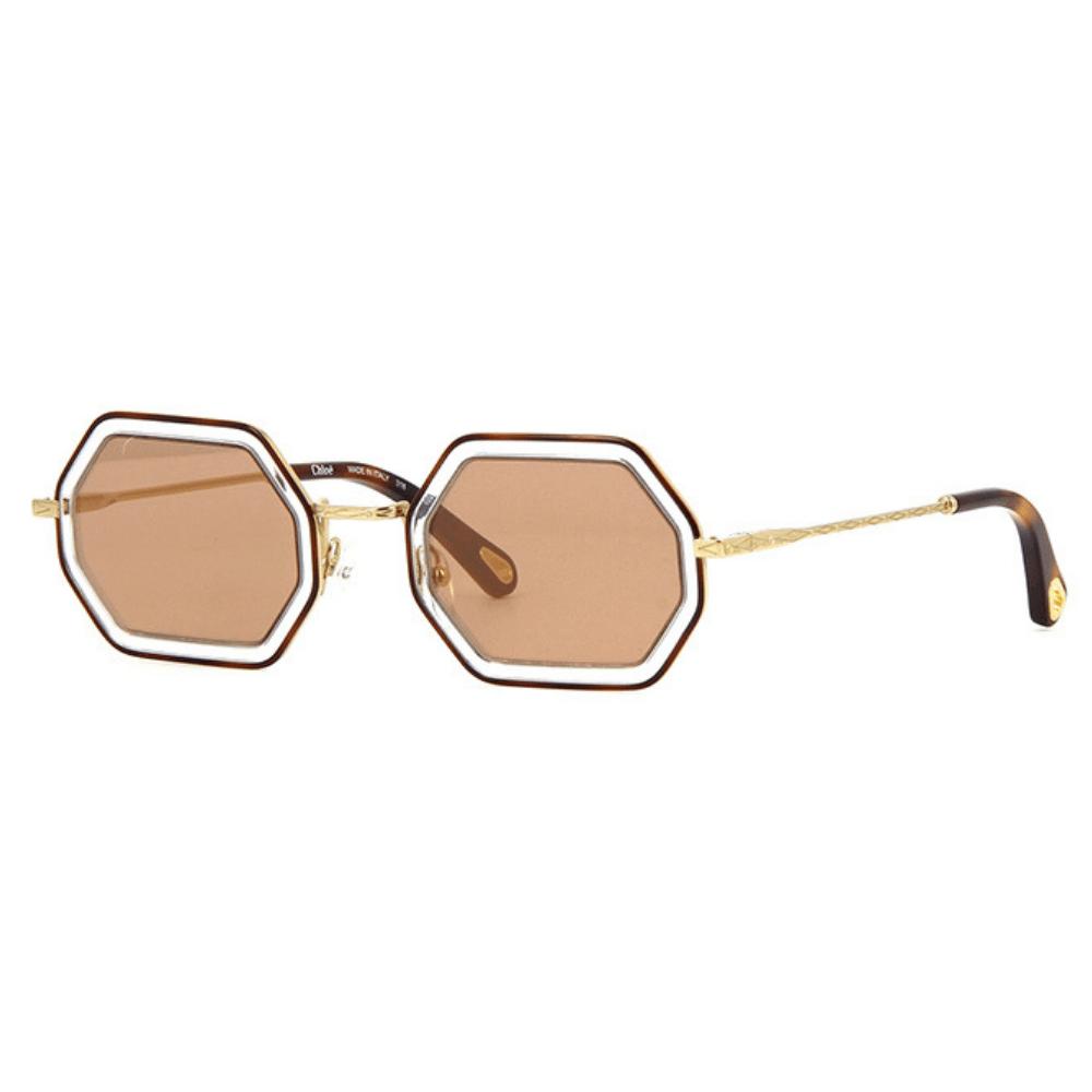 Óculos de Sol Chloé Tally Octogonal 146S 253 Havana - Tamanho 53 3be16420df