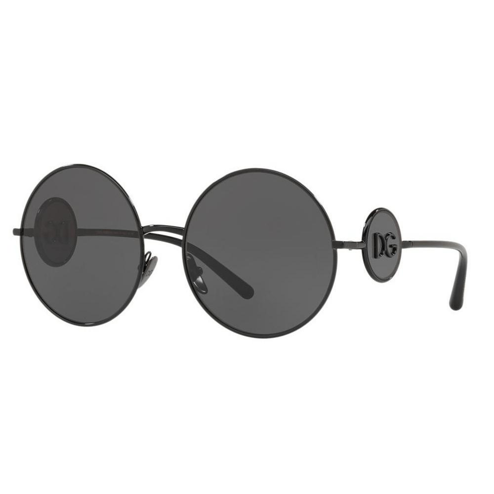 8ed7089d85aa6 Óculos de Sol Dolce   Gabbana 2205 Preto 0187 - Cristalli Otica
