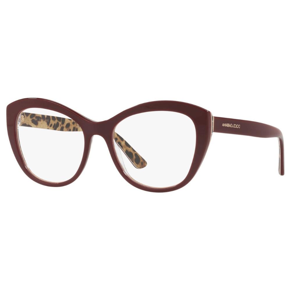 65e26ee12 Óculos de Grau Dolce & Gabbana 3284 Bordô 3156 - Cristalli Otica