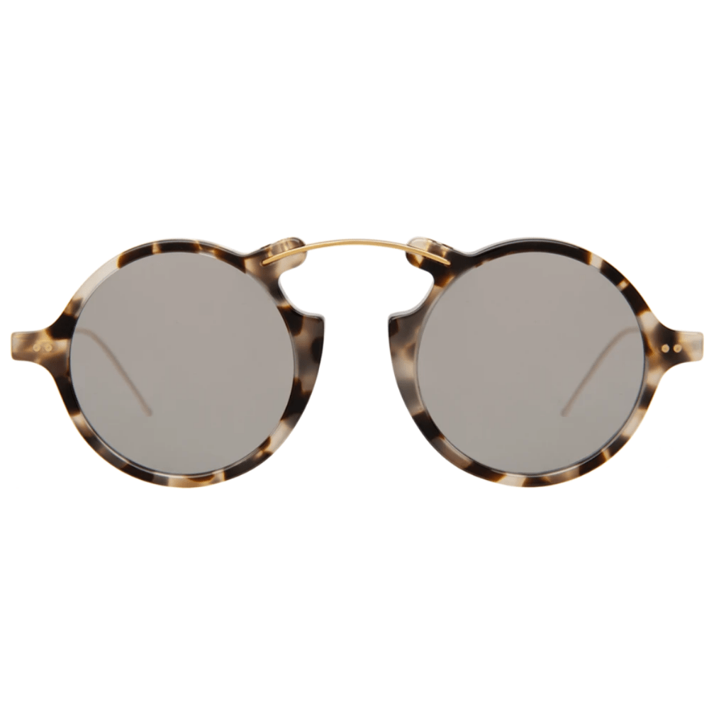 Oculos-de-Sol-Illesteva-Roma-II-Tartaruga-Branco---Prata-Espelhado