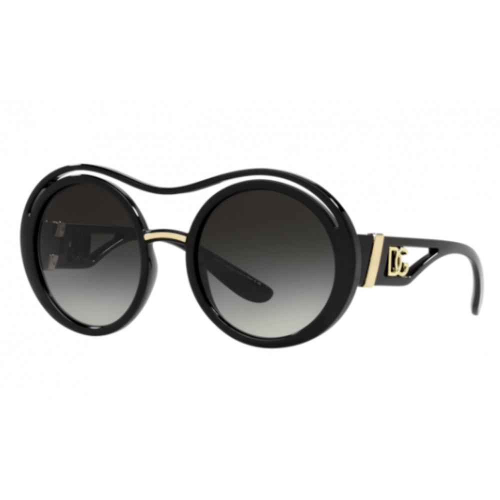 Oculos-de-Sol-Redondo-Preto-Dolce---Gabbana-6142-S-501-8G