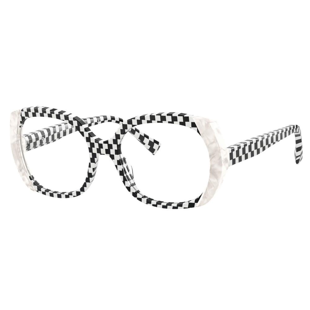 Oculos-de-Grau-Estampado-Xadrez-Preto-e-Branco-Alain-Mikli-3116-002